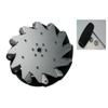 Nexus 14129 254mm Left Aluminium Mecanum Wheel